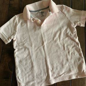 Boys Pink OshKosh Polo Short Sleeved Shirt